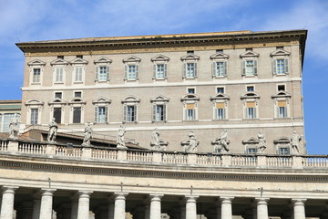 Apostolic Palace, Vatican where pope greets visitors at window