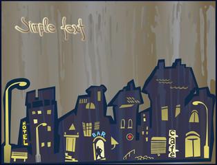city does not sleep at night. Rain