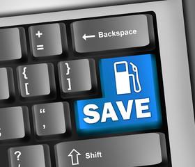 "Keyboard Illustration ""Save Gas"""