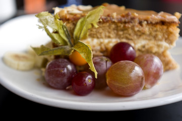 Cakes with grapes