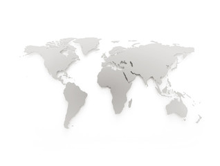 Aluminium Prints World Map Grey business world map