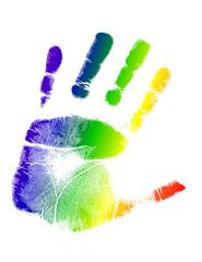 bright colorful handprint illustration design