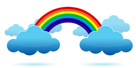 Rainbow and Clouds illustration design