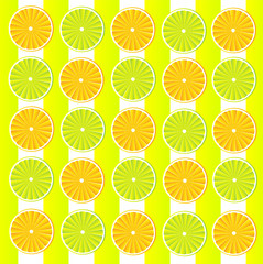 Wallpaper with oranges and lemons