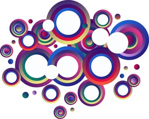 multi colored bubbles