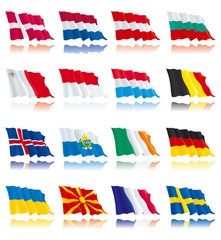 Flags set of world nations 2