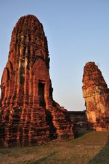 Ruined ancient pagoda at Ayutthaya Historic Site, Thailand