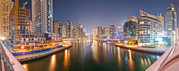 Dubai Marina from the Bridge Bigsizepanorama