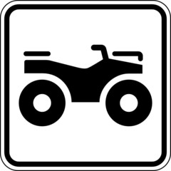 Fototapete - Quad ATV Geländefahrzeuge Schild Zeichen Symbol