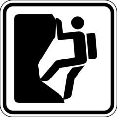 Fototapete - Klettern Bergsteigen Schild Zeichen Symbol Grafik