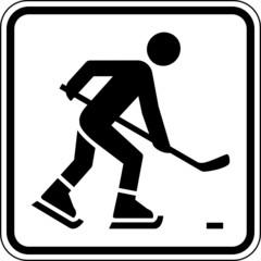 Fototapete - Eishockey Eishockeyspieler Schild Zeichen Symbol