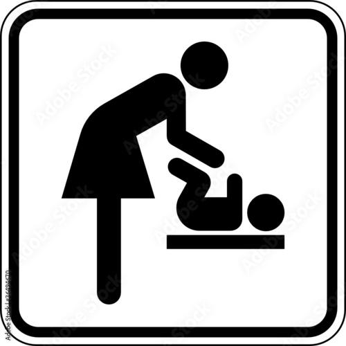 """""""Wickelraum Baby wickeln Toilette WC Schild Zeichen Symbol ..."""
