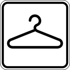 Garderobe allgemein Umkleide Schild Zeichen Symbol