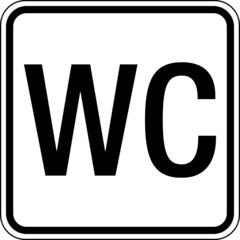 Fototapete - Text Waschraum WC Klo Toilette Schild Zeichen Symbol