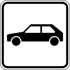 Fototapete - Auto PKW Parkplatz KFZ Schild Zeichen Symbol