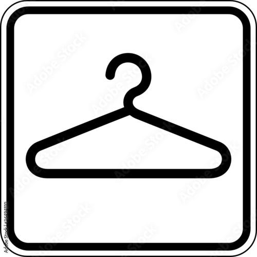Garderobe schild  Garderobe allgemein Umkleide Schild Zeichen Symbol