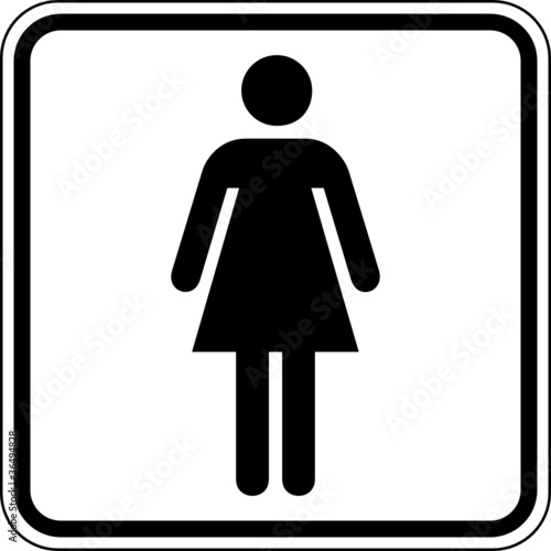 Toilette WC Klo Damen Frauen Schild Zeichen Symbol