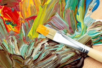Abstrakt paint and paintbrush