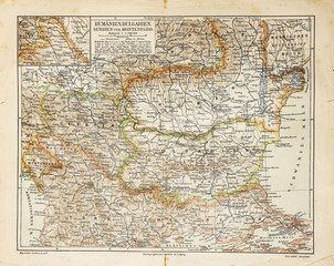 Vintage map of Eastern Europe