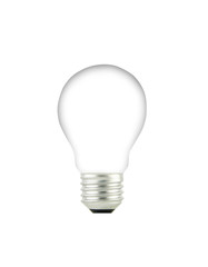 Light bulb isolated on a white background.