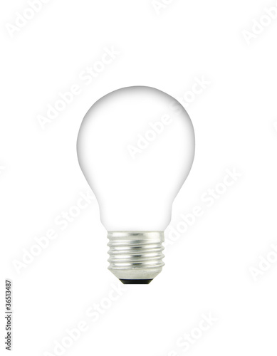 Light Bulb Isolated On A White Background Stock Photo And Royalty