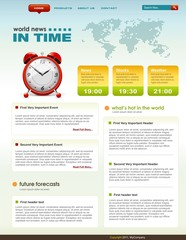 News related web page infographics template