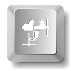Clamp. Vector computer key.