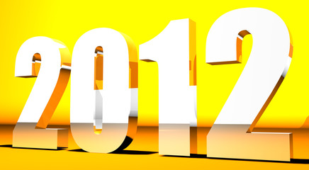 3D New Year 2012 background
