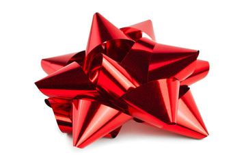 Single Red Christmas Bow