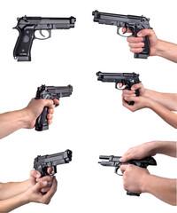Guns in hands