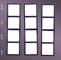 Wall Mural - negative medium format film contact sheet, blank frames