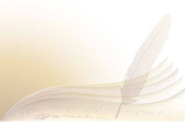 Vector background of pages and a pen