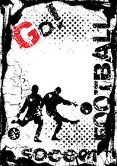 grunge soccer background, street design