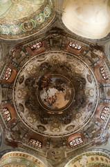 interior of Dome in Romansque Church in Ravenna Italy