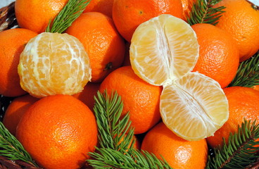 background of mandarin and clementine