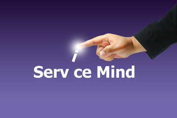 hand pushing service mind