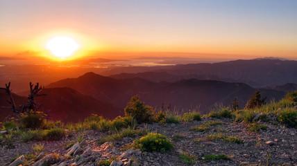 Gobbler's Sunset, Gobblers Knob, Olympus Wilderness, Utah