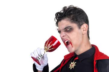 vampire drinking blood