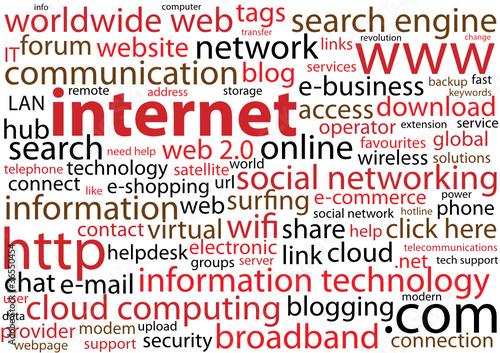 INTERNET Tag Cloud (http www connection web button symbol
