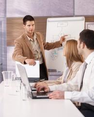 Young professionals having presentation