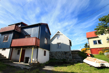 the houses of Henningsvaer