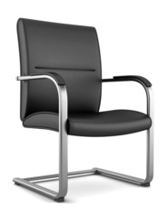 modern black chair isolated on white background