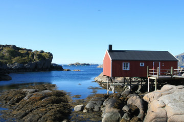 Isolated  fisherman's cabins