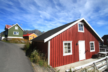 Wall Mural - the colours  of Henningsvaer