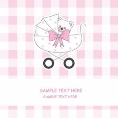 tarjeta anuncio nacimiento bebé niña