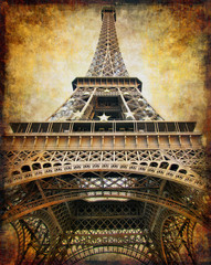 Fototapete - eiffel tower - retro styled picture