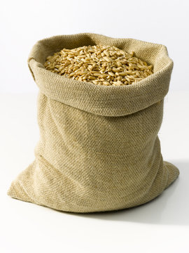 bag with wheat