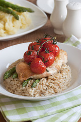 Chicken with risotto