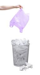Throwing garbage out