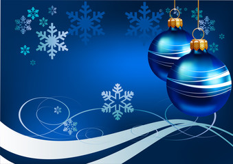 Christmas. Blue background